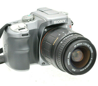 Sony Alpha A100 Dslr & 28-80Mm Lens Tested Great Condition - Silver