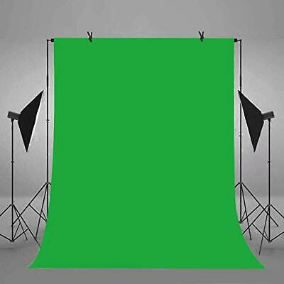 6x9ft/1.8x2.7m Green Screen Backdrop Polyester Fabric Chromakey Panel for