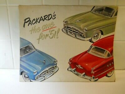 Vintage 1951 Packard's The One for '51 Brochure