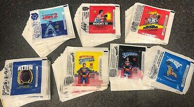 380 Assorted Non-Sport Wax Pack Wrappers Jaws 2 Rocky 2 Alien Superman BlackHole