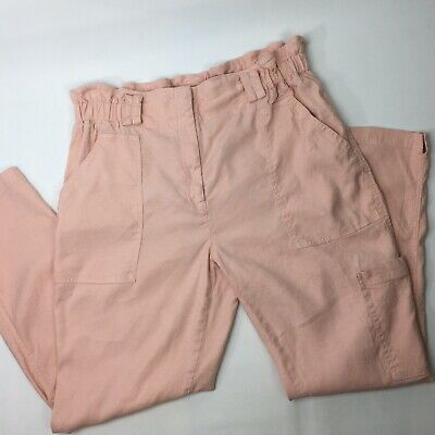 Anthropologie Womens Elevenses Paperbag Waisted Pants Joggers High-Rise Size L