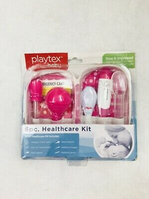 Playtex Baby 6 Piece Baby Healthcare Kit Case Pink