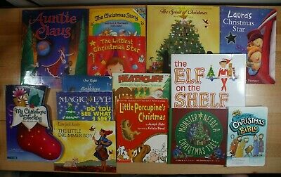 CHRISTMAS BOOKS For Children! Paperback Hardcover and Board Book Lot of 14!