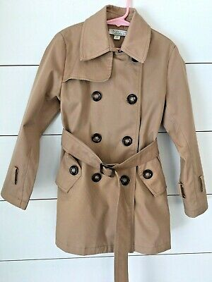 Richie House Little Girls Trench Coat Size 5/6 Beige Classic Double Breasted