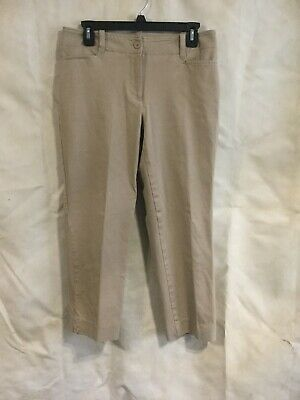 Talbots Signature Womens Tan Beige Capri Pants Size 6