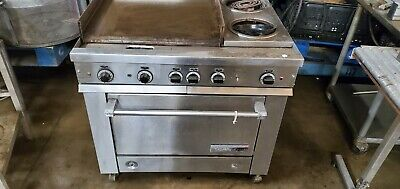 Granbury Griddle 2 Burners 1 Oven Commercial Cooktop