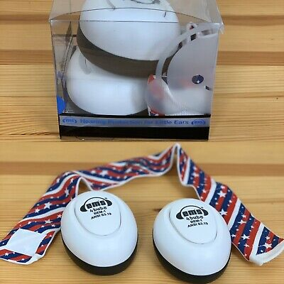 EMS 4 BUBS Ear Deffenders Baby Stars & Stripes Red Blue White Boxed