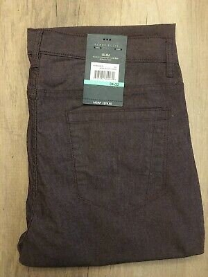 Men's Perry Ellis NWT Royal Black Cherry Slim Stretch Jeans 34X32 *MSRP 79$**