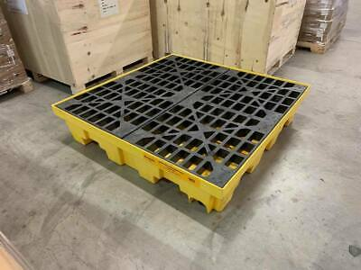 4 Drum Spill Containment Pallet with Drain - Justrite / Uline