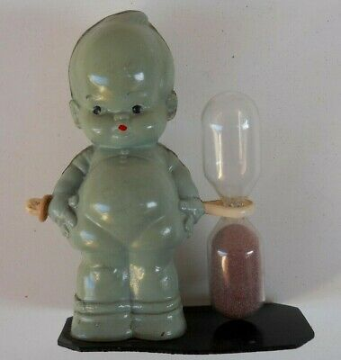 Rare Vintage Celluloid PALITOY Doll Diddums ~ Mabel Lucie Attwell ~ Egg Timer