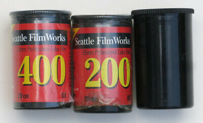 LOT OF 3 Seattle Film Works 35mm Print Film (2) 200 & (1) 400 - 20 Exp EXPIRED