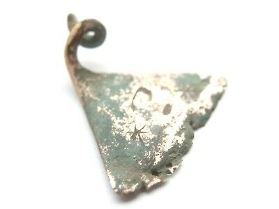 Hallstatt Culture ANCIENT Celtic Silver AXE AMULET / TALISMAN - RUNES decorated