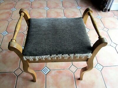 Antique Edwardian Piano Stool With Lift Top  for Music Storage  DIY Project