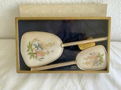 Vintage 2Pc Mascot Dressing Table Vanity Set Hand Mirror And Brush England 3L4F