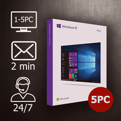 Windows 10/8.1/7 Pro/Home/Ultimate - 1-5 PC / 32&64 Bit / ESD Versand per Email