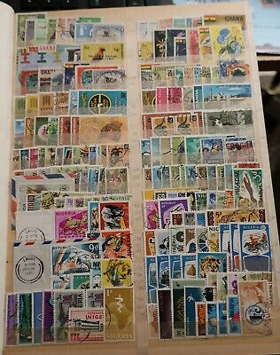 Stacked 16 side album of mainly used QEII Commonwealth stamps. Good condition.