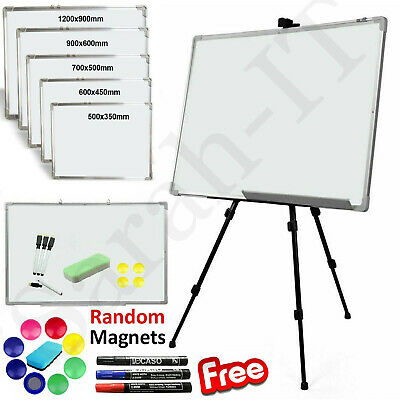 Magnetic Whiteboard Dry Wipe Small Large White Board Office Home School UK