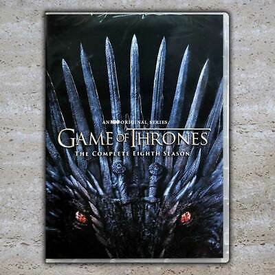 Game of Thrones: Complete Season 8 DVD Fast Shipping USPS First Class US Seller