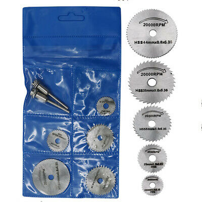 7pcs Saw-Blade Mandrel-Drill Rotary-Tool Cutting Wood Steel Circular Discs Hss