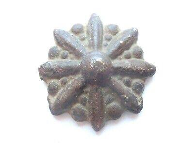 *La Tene* PERIOD Celtic Bronze Druids *EIGHT RAY STAR* Amulet  / Mount - 300 BC