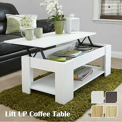 Coffee Table with Storage   Wood Lift Up Top Drawers Living Room Furniture Desk