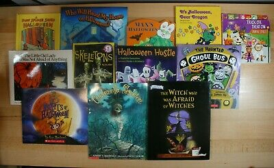 HALLOWEEN BOOKS for Children! Paperback Hardcover and Board Book lot of 12!