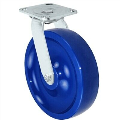 "CASTERHQ- 8"" Stainless Swivel Caster - Solid Polyurethane - 1,250 lbs Capacity"