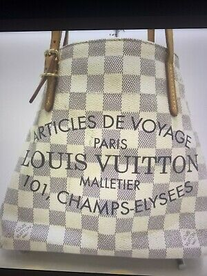 Auth LOUIS VUITTON Cabas PM N41376 Azur Damier DU1114 Tote Bag