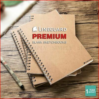 Lineguard Sketch Book A4 A5 A3 Paper Pad Journal Spiral Note Drawing Painting Ar