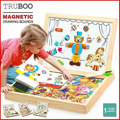 Truboo Kids Magnetic Drawing Board Toy Educational Doodle Pad Puzzle Children