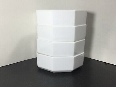 Arcopal France - Novoctime - White - Coupe Cereal Bowls - FOUR - 4 - 5 3/4""