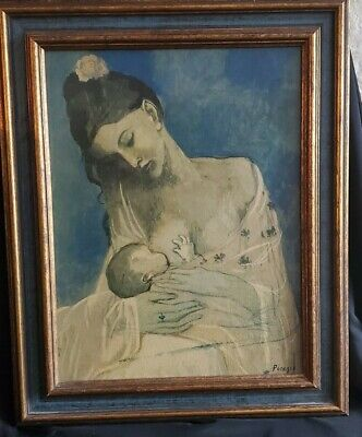 Mother and Child by Josef Danhauser Woman Baby Breastfeeding 8x10 Print 2512