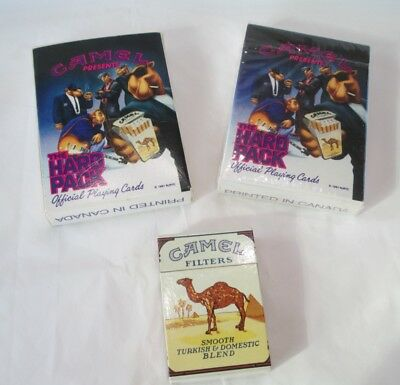Camel Cigarettes 2 Decks (one sealed) Playing Cards - Joe Camel / 1 Lighter