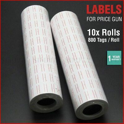 Price Tag Gun Labels Tags 10x Rolls Sticker Pricing Tagging MX5500 800 Per Roll