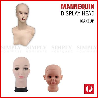 Mannequin Head Stand Female Makeup Display Model Plastic Manikin Wig Hair Dummy