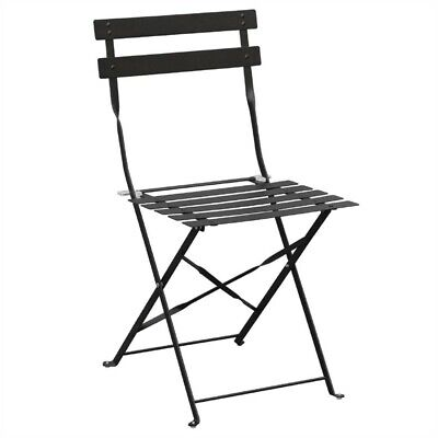 Bolero Steel Chairs Black (2er Pack)