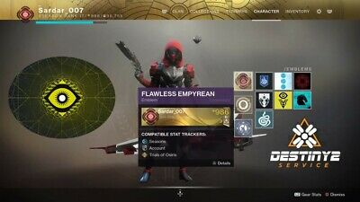 Destiny 2 Trials of Osiris confirmed Flawless! Ps4 only