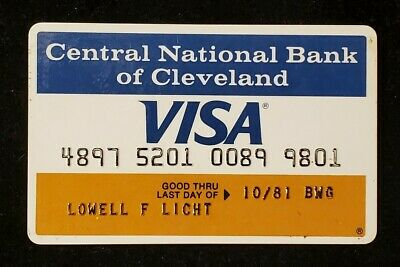 Central National Bank of Cleveland Visa exp 1981♡free ship♡cc1317♡ Ohio