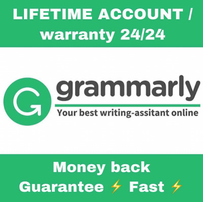 Grammarly Premium⭐ Life time Account with Life time Warranty⚡ [Fast Delivery]