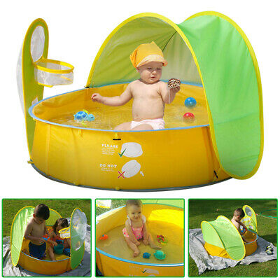 Kids BeachTent Pop-up Baby Playhouse Pool Portable Ball Pit Play Tent Sun Shade