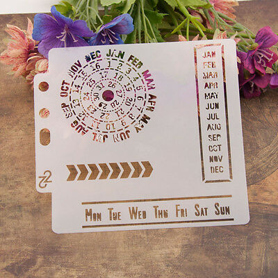Reusable calendar Stencil Airbrush Art DIY Home Decor Scrapbooking Album Craf IO