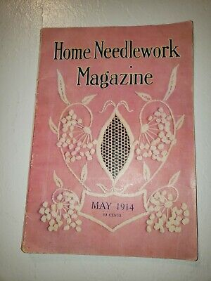 VINTAGE HOME NEEDLEWORK MAGAZINE May 1914: Crochet, Embroidery, Cross Patterns