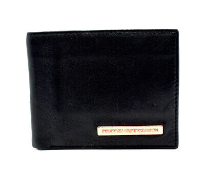 French Connection Mens Bifold Leather Card Wallet Black