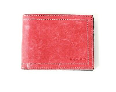 Tannino Cuero Mens Leather Bifold Wallet Red