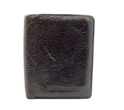St George by Duffer Mens Bifold Leather Card Wallet Brown