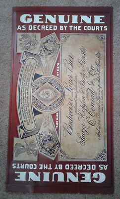 Vintage Budweiser Lager Beer Metal Tin Sign - Mancave!
