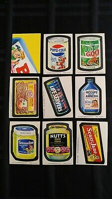 1974 Original Wacky Packages 10th Series Complete Set Of 30 Stickers With Pupsi
