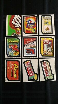 1975 Original Wacky Packages 12th Series Complete Set Of 27 Stickers