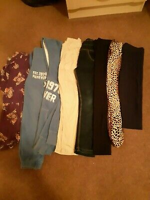 Bundle Girls Clothes Age 7-8 Trousers, Track Suit Etc M & S, Next
