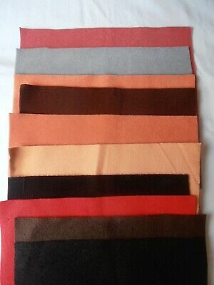 10 Sheets Of Felt and Suede For Mini Bears or Paws / Pads On Larger Teddy Bears